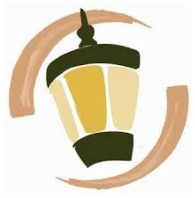 Lamplight logo brown green and yellow